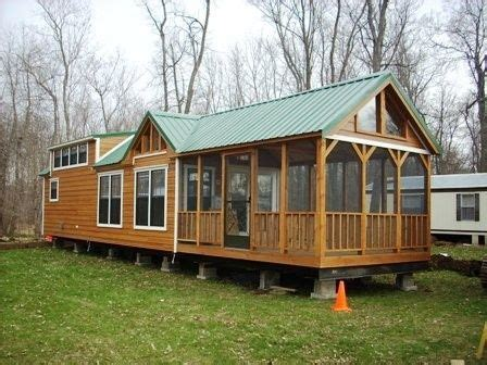 small log cabin mobile homes found on