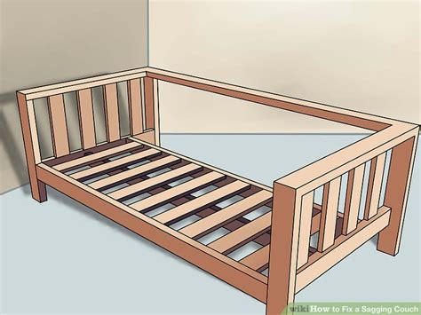 how to fix a sofa bed frame how to fix a sagging couch 14 steps with pictures wikihow