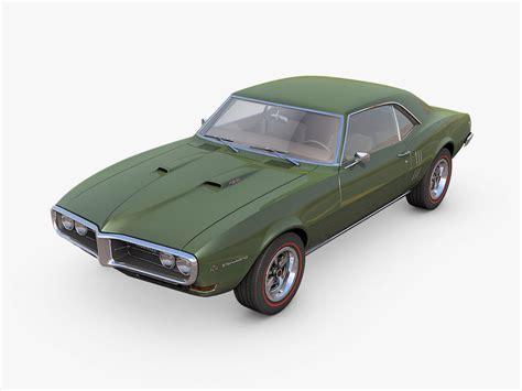 pontiac 1968 models 3d model pontiac firebird 1968
