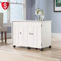 Folding Craft Table With Storage White Sewing Machine Craft Table Folding Shelves Storage Cabinet Sauder Ebay