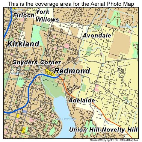 maps redmond aerial photography map of redmond wa washington