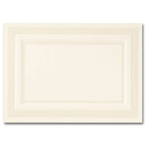 Embossed Panel Card Templates 02097 by Impressions Pearl Embossed Border Ecru Flat Cards