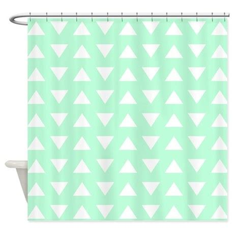 Favorite Designer Mint by Mint Green Pattern Shower Curtain By Metarla3