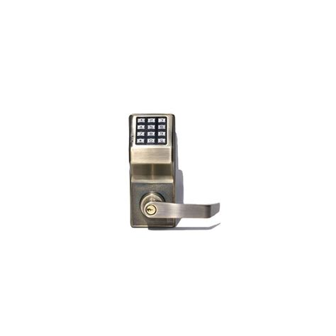 Alarm Lock Dl27005 Antique Brass Trilogy T2 Electronic Single Cylinder Lever Set With Digital Trilogy Dl2700 Template