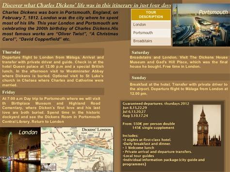 charles dickens biography slideshare charles dickens itinerary