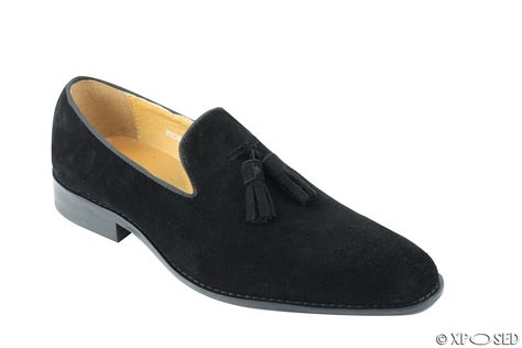 mens blue suede tassel loafers mens real suede leather blue green black slip on tassel