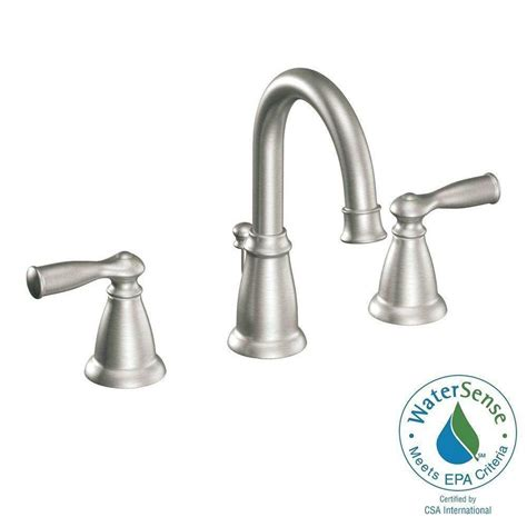 Nickel Kitchen Faucet by Moen Banbury 2 Handle Widespread Bathroom Faucet In Spot