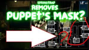 Five nights at freddy s 3 springtrap removes puppet s mask fnaf 3