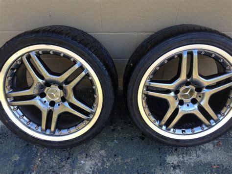 sale set   oem  sl wheels  tires mbworld