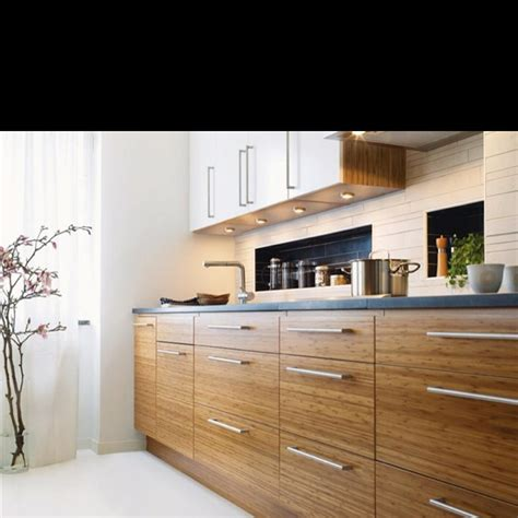 Kitchen With Light Cabinets Bamboo Cabinet Options Hmm Light Or Dark Espresso