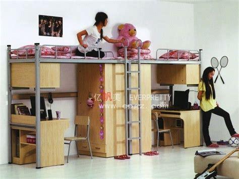 student dormitory triple bunk bed  desks metal bunk