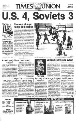 The Miracle Times Quot Miracle On Quot Heartwarming Victory Or Embarrassing Tragedy 1980 Olympic Hockey Coverage