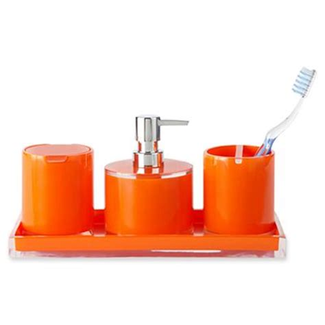 orange bath decor by color