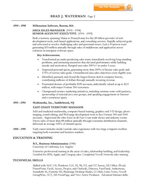 free sles of resume it sales resume exle