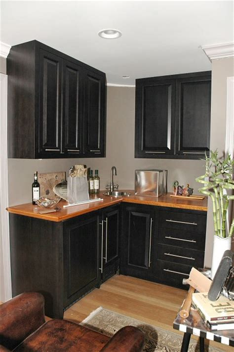 how to stain kitchen cabinets black stained cabinets