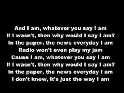 eminem the way i am lyrics eminem marilyn manson the way i am with lyric youtube