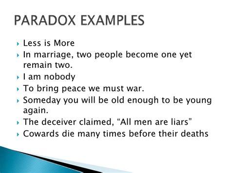 exle of paradox figurative language paradox