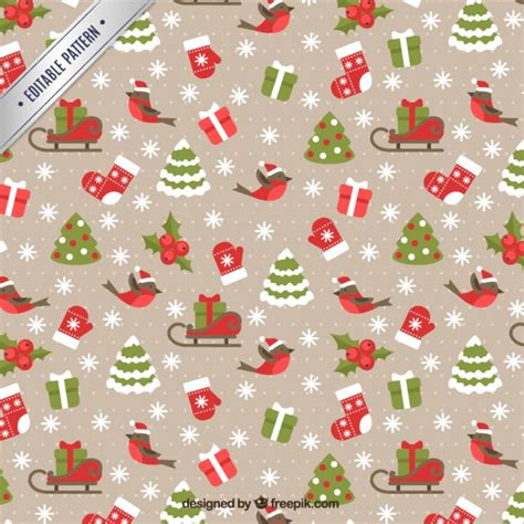 christmas patterns early years christmas pattern in lovely style vector free download