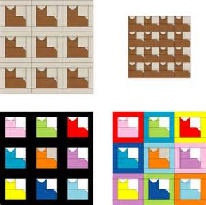 Patchwork Cat Pattern - patchwork cat quilt block pattern