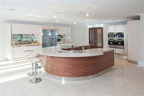 huge kitchen island kitchen curved design kitchen island 20 modern kitchens with curved kitchen islands