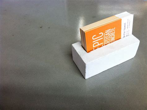 concrete business card holder by epicconcrete on etsy