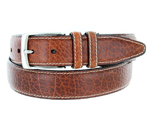 s genuine bison leather dress belt 1 3 8 quot wide