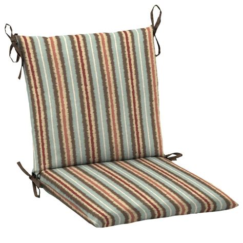 Striped Dining Chair Cushions Hton Bay Elaine Ikat Stripe Mid Back Outdoor Dining Chair Cushion Je09552b 9d6 The Home Depot