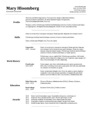 Resume Basics by Basic Resume Exles Resume Builder