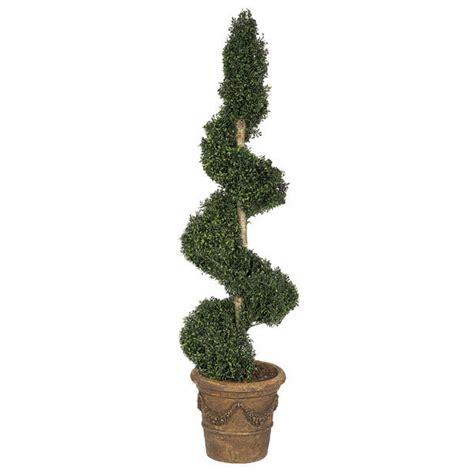 faux topiary outdoor 6 foot artificial outdoor polycaise spiral topiary with