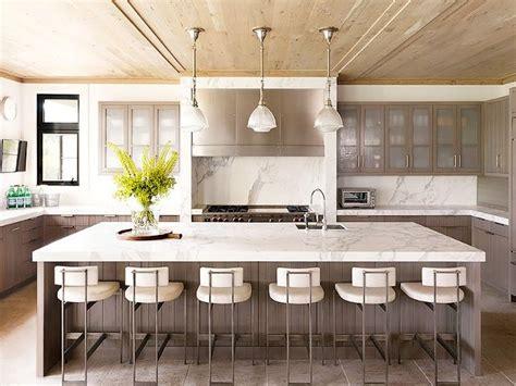 carrara marble kitchen island 8 stunning carrara marble kitchens mydomaine