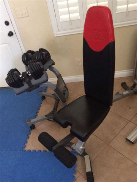 bowflex selecttech bench 3 1 select tech dumbbells for sale classifieds