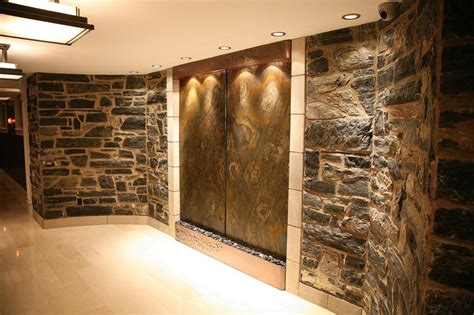 indoor wall waterfalls for homes backyard design ideas