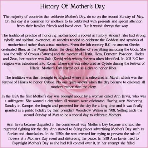 s day origin history history of mothers day affirmations