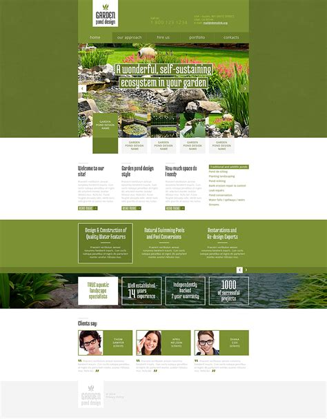 garden layout template garden design responsive website template 48179