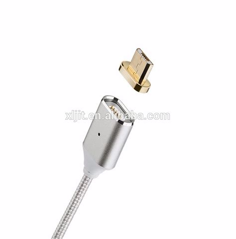 Magnetic Cable Charging Sync android magnetic micro usb charger braided data sync cable samsung adapter