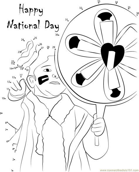 coloring pages for uae national day connect the dots happy national day holidays gt national