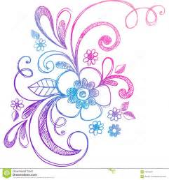 free vector doodle swirls sketchy doodle flower and swirls vector royalty free stock