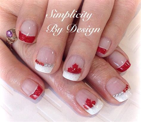 unique french nail art ideas  pinterest french