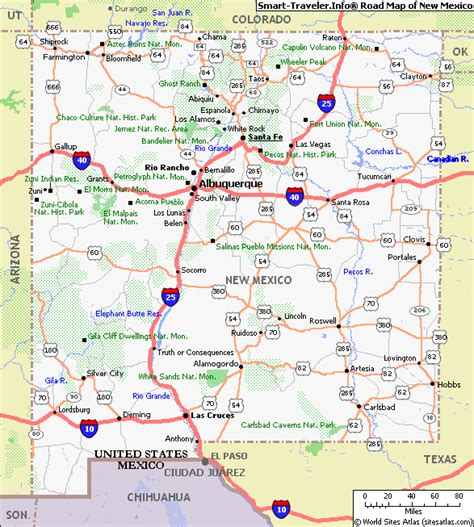 nm map map of new mexico