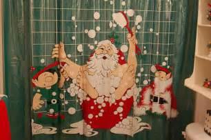 santa claus shower curtain flickr photo