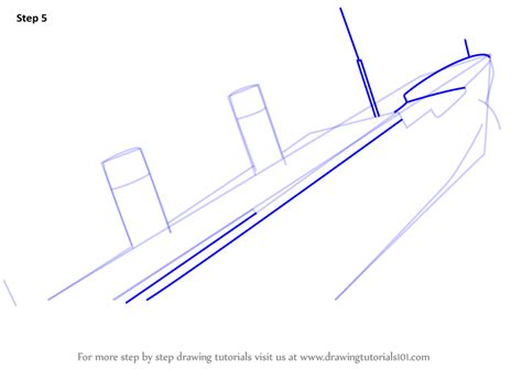 how to draw a boat house learn how to draw titanic sinking boats and ships step