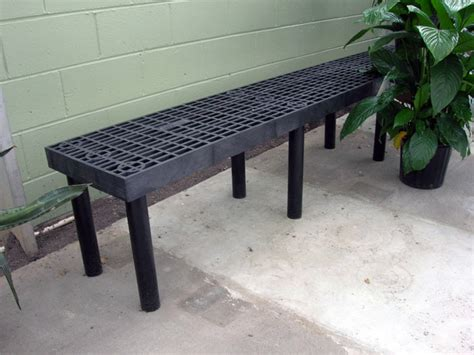 pvc benches single level display bench economy plastic benches