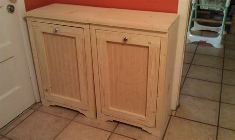 white wood tilt out trash bins diy projects