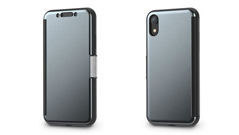 moshi stealthcover iphone xr clear view gunmetal grey