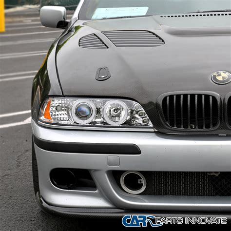 2001 bmw 525i headlights 2001 2003 bmw e39 5 series 528i 540i chrome led iced halo
