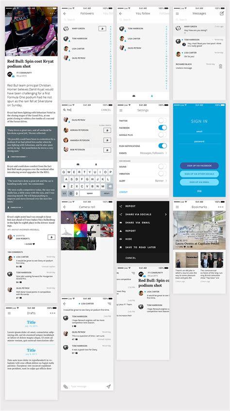 ios livejournal redesign concept blazrobar com psd