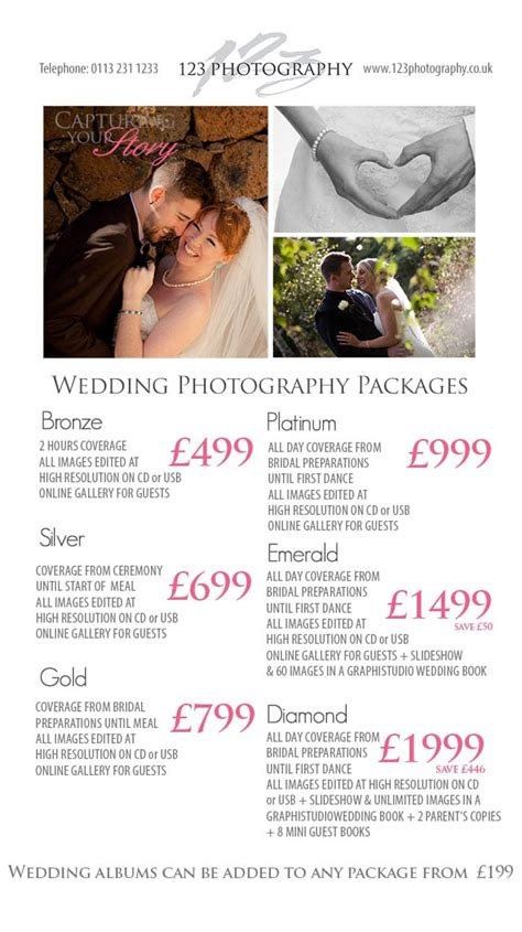 wedding photography prices leeds photographer prices - Wedding Photography Price Guide Uk