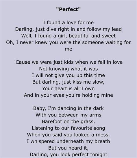 ed sheeran perfect ultimate best 25 ed sheeran lyrics perfect ideas on pinterest ed