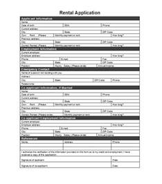 rental application template 42 rental application forms lease agreement templates