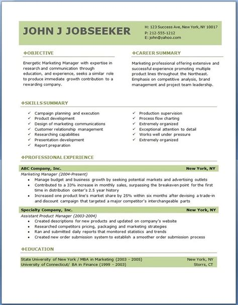 template for professional resume in word using professional resume templateto create your own